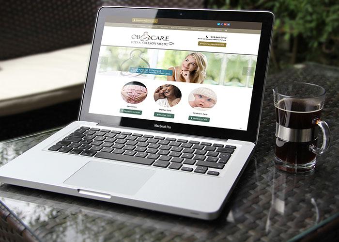UI / UX design for a physician's website design