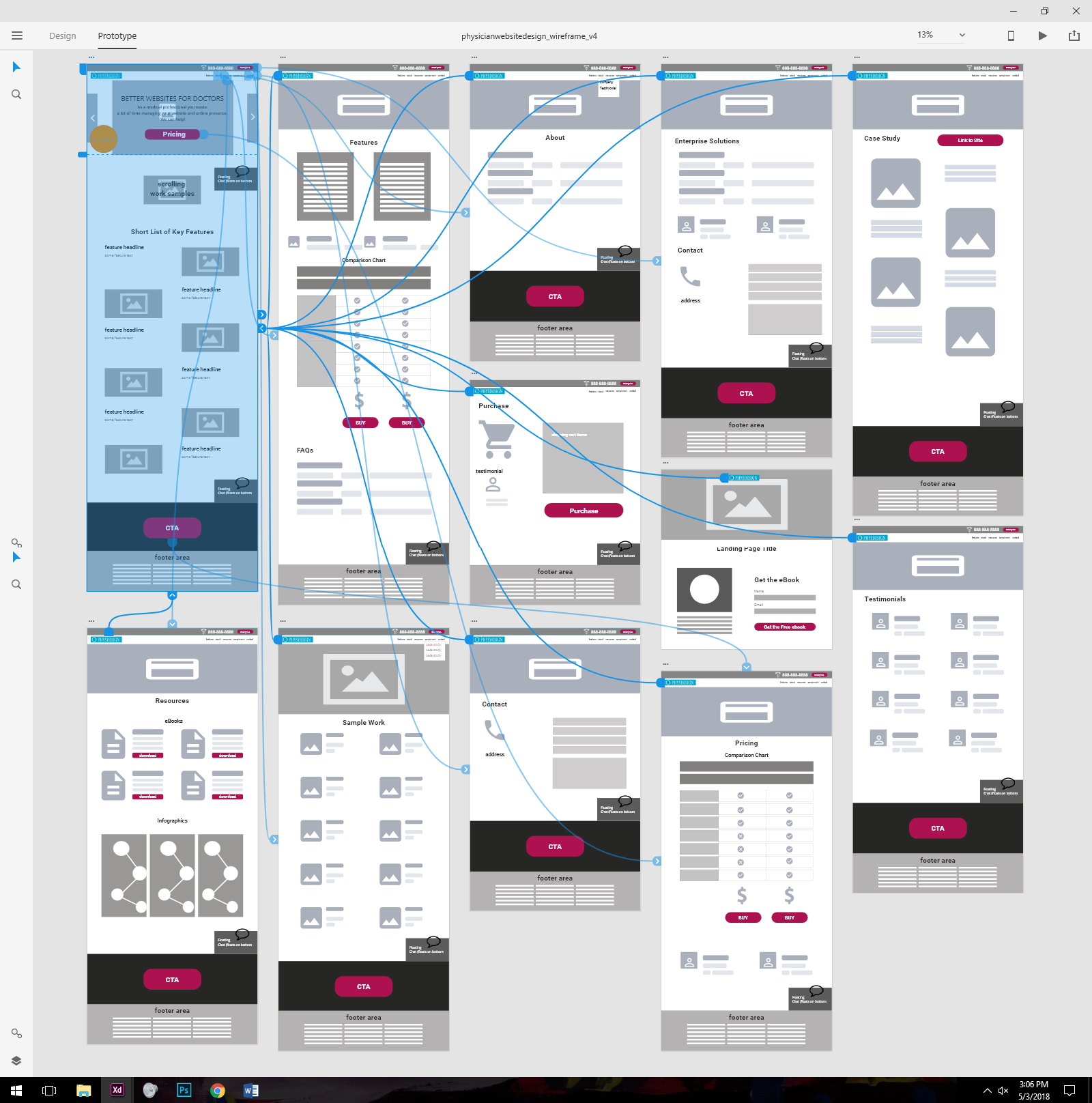 My UX / UI thoughts and design process, as the Lead UX / UI designer, in refurbishing a medical marketing company's desktop and mobile presence.