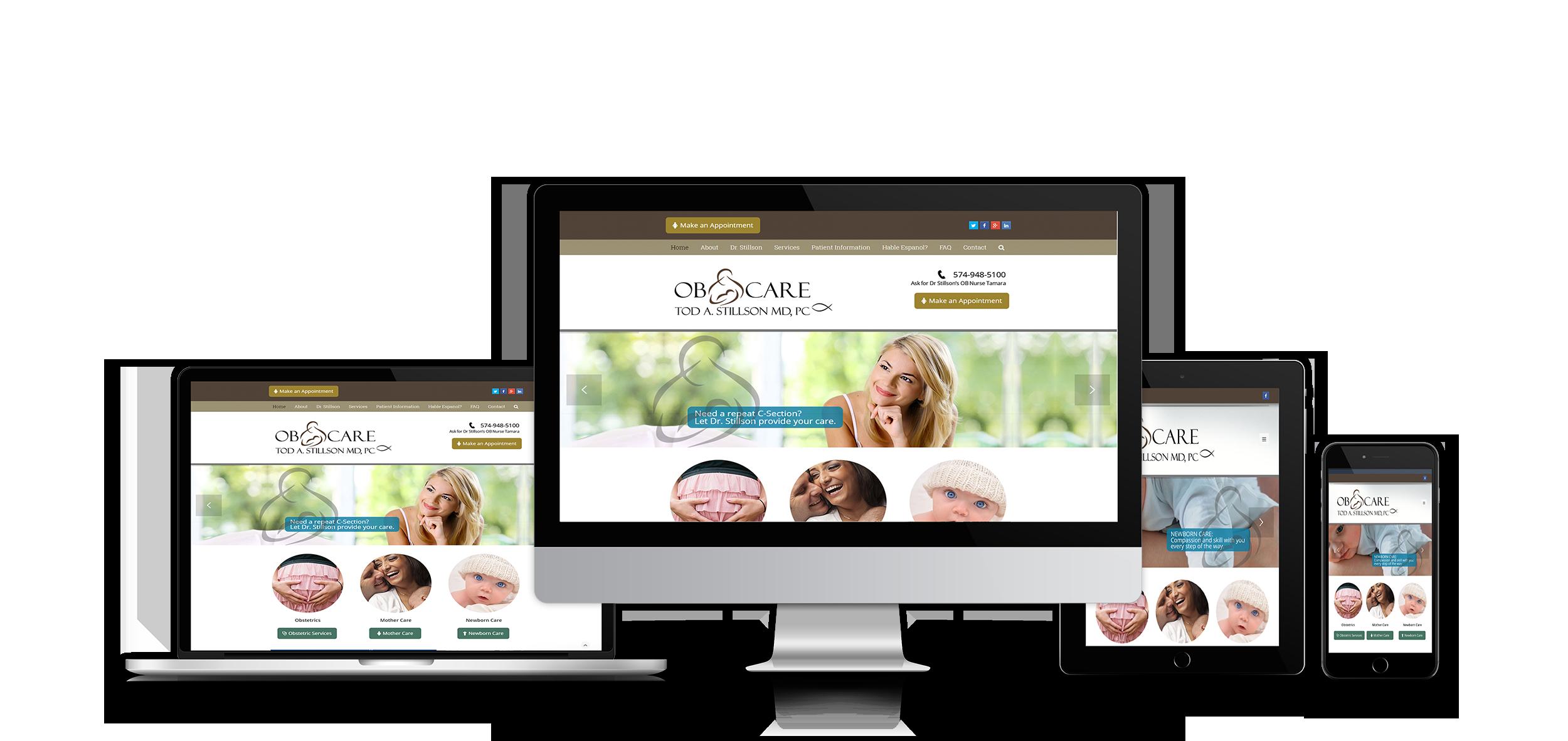 stillson obgyn | medical website design